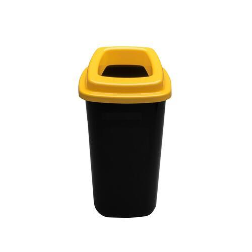 Rūšiavimo šiukšliadėžė Mini Ecobin Geltonu dangčiu 28 ltr