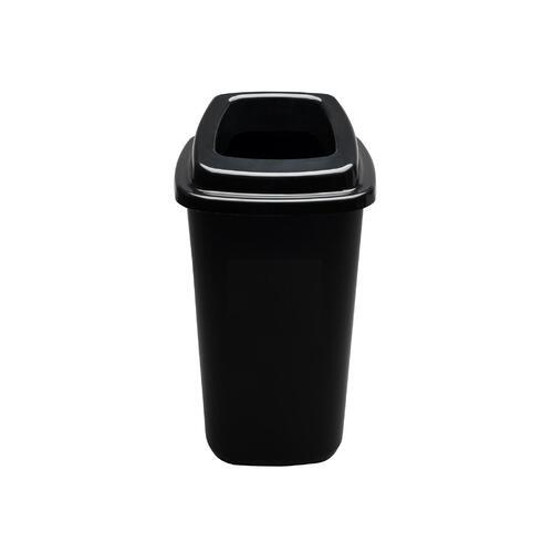 Rūšiavimo šiukšliadėžė Mini Ecobin Juodu dangčiu 28 ltr