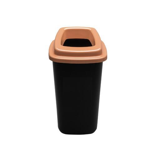 Rūšiavimo šiukšliadėžė Mini Ecobin Rudu dangčiu 28 ltr