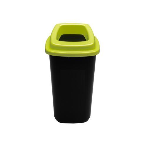 Rūšiavimo šiukšliadėžė Mini Ecobin Žaliu dangčiu 28 ltr