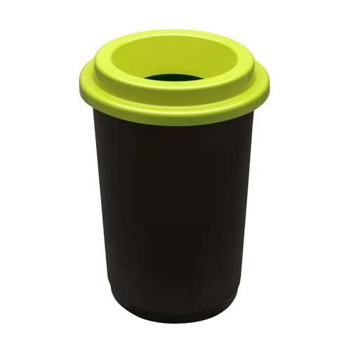 Plastikinė šiukšlių dėžė Eco Bin Žaliu dangčiu 50 ltr