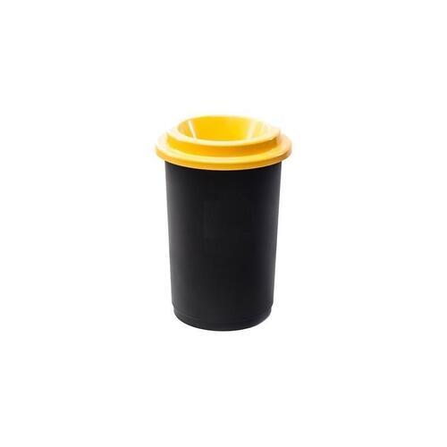 Plastikinė šiukšlių dėžė Eco Bin Geltonu dangčiu 50 ltr