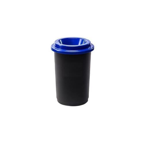 Plastikinė šiukšlių dėžė Eco Bin Mėlynu dangčiu 50 ltr