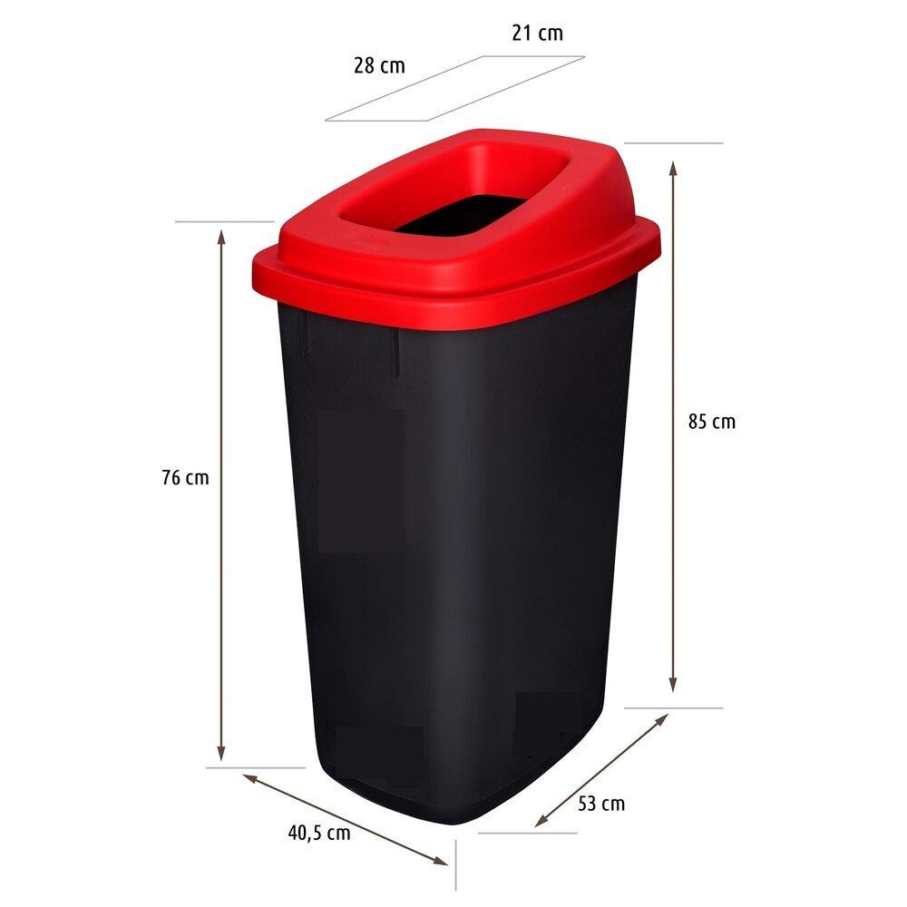Šiukšlių dėžė rūšiavimui EcoBin Big Žalia spalva 90 ltr