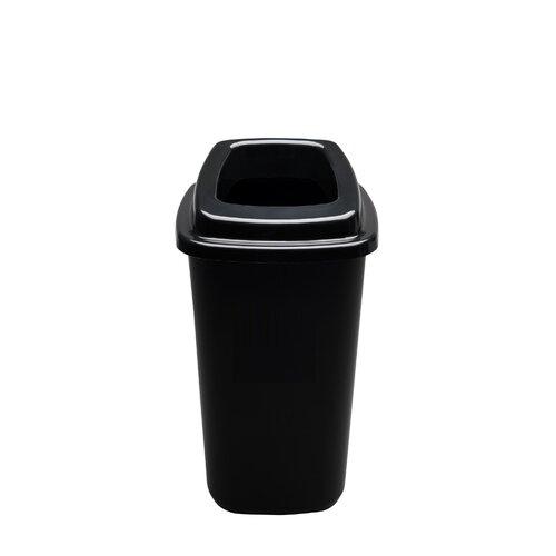 Šiukšlių dėžė rūšiavimui EcoBin Big Juoda spalva 90 ltr
