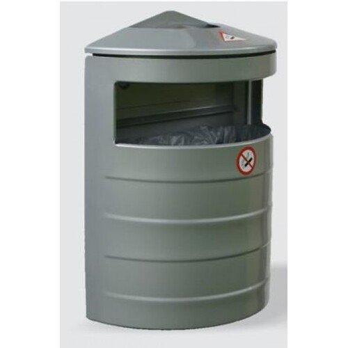 Pakabinama, pusapvalė šiukšlių dėžė su pelenine 20 litrų