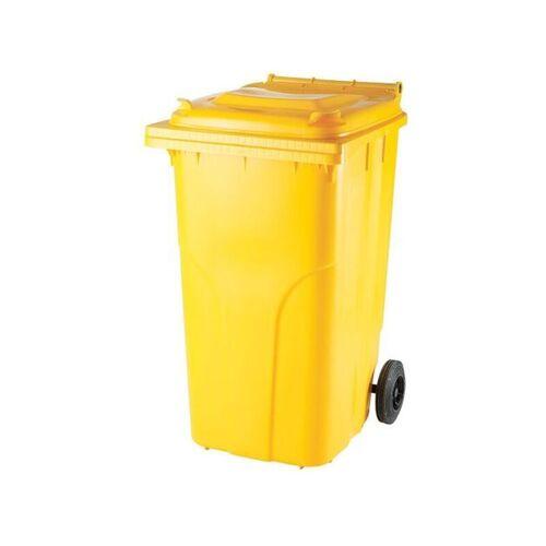 Geltonas 240 litrų konteineris PLASTIKO atliekoms