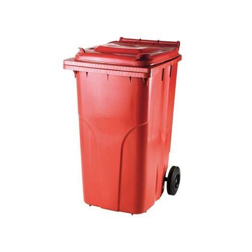 Raudonas 240 litrų konteineris