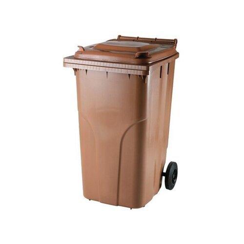 Rudas 240 litrų konteineris BIO atliekoms