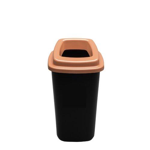 Šiukšlių dėžė rūšiavimui EcoBin Big Ruda spalva 90 ltr