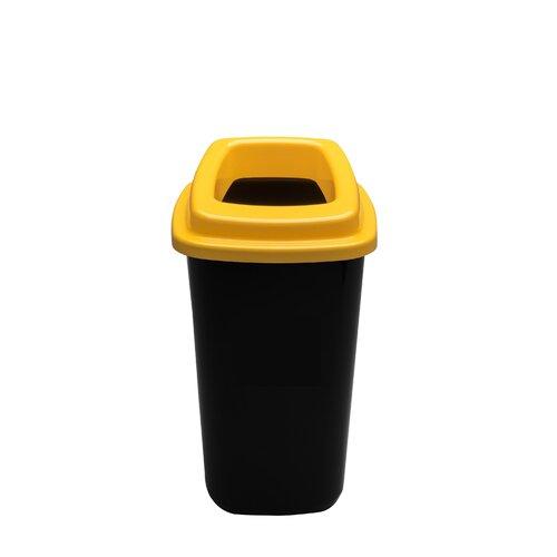 Šiukšlių dėžė rūšiavimui EcoBin Big Geltona spalva 90 ltr