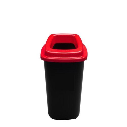 Šiukšlių dėžė rūšiavimui EcoBin Big Raudona spalva 90 ltr