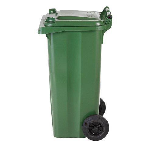 Žalias 120 litrų talpos šiukšlių konteineris STIKLO atliekoms